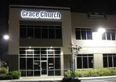 Grace Church (reverse channel letters)