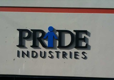 Pride Industries (dimensional wall sign)