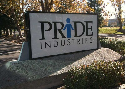 Pride Industries (monument sign)