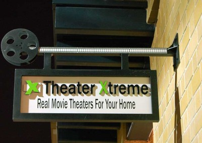 Theater Xtreme (blade sign) built for SOL