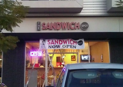the Sandwich Spot (Channel letters)